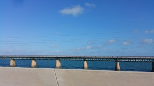 You can see the Old 7 Mile Bridge running along side.